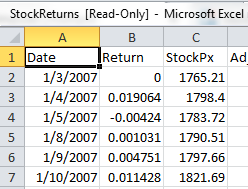 StockReturns